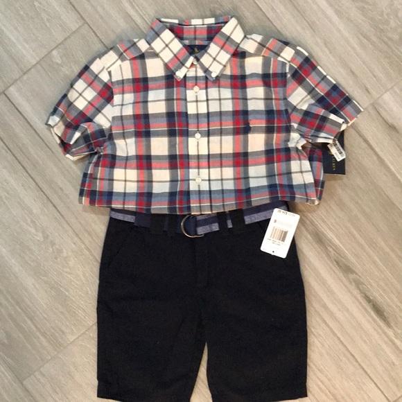 New Ralph Lauren shirt and Nautica Shorts Size 6